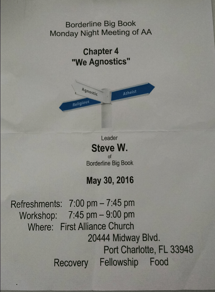 Borderline Big Book - Eating Meeting @ First Alliance Church | Port Charlotte | Florida | United States
